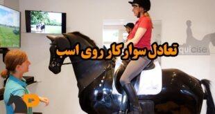 تعادل سوارکار روی اسب